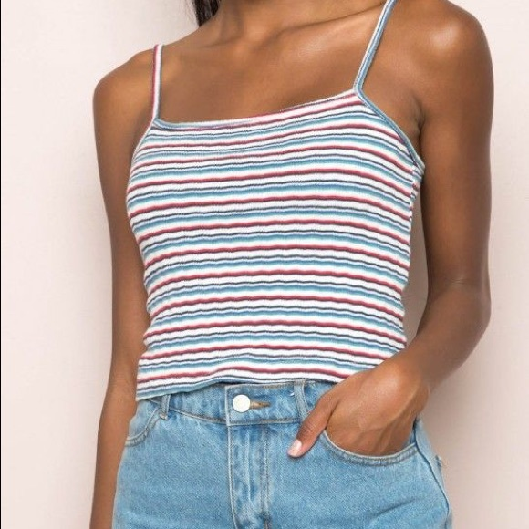 751d57d873e Brandy Melville Tops - Brandy Melville Multi Colored Striped Tank Top